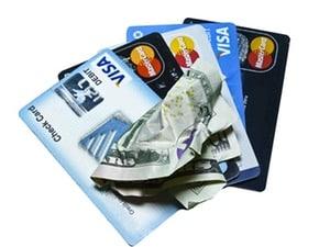 Kostnad för kreditkort och uttag