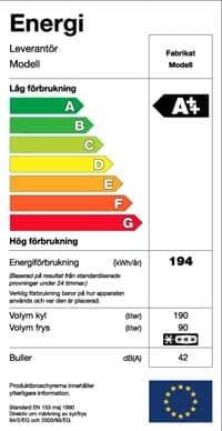 Energi - energimärkning el