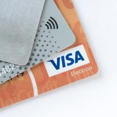 Betal- och kreditkort med blipp