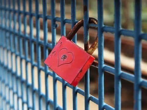 Lås fast er kärlek på en personlig plats