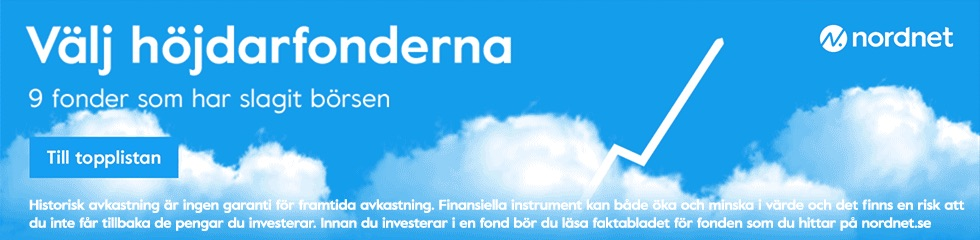 Spara i fonder hos Nordnet