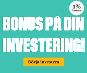 Bonus på din investering hos Brocc