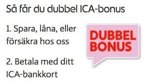 Dubbel ICA bonus